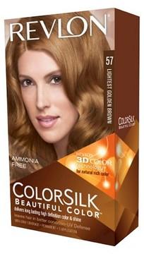 Revlon® ColorSilk Hair color - 57 Lightest Golden Brown- 4 piece