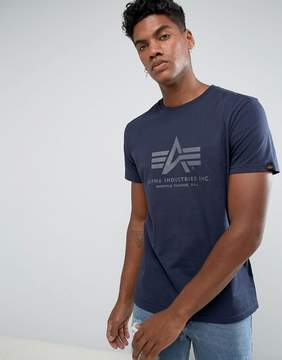 Alpha Industries Logo T-Shirt Regular Fit in Navy