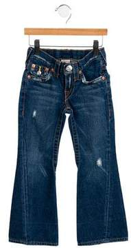 7 For All Mankind Girls' Distressed Flared Jeans