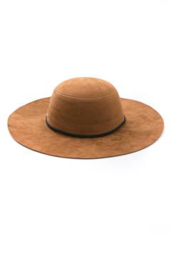 San Diego Hat Company Suede Round Rope Trim Tiller Hat