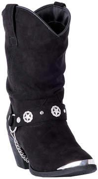 Dingo Black Leather Harness-Accent Cowboy Boot - Women