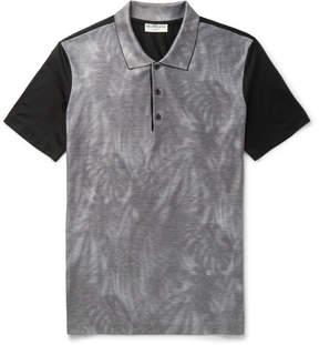 Balenciaga Printed Cotton-Piqué Polo Shirt