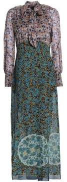 Anna Sui Pussy-Bow Printed Silk-Blend Maxi Dress
