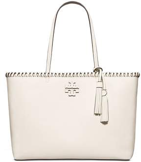 Tory Burch MCGRAW WHIPSTITCH TOTE - NEW IVORY - STYLE