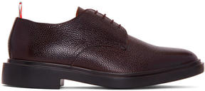 Thom Browne Brown Rubber Sole Derbys