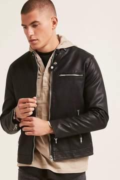 21men 21 MEN Faux Leather Jacket