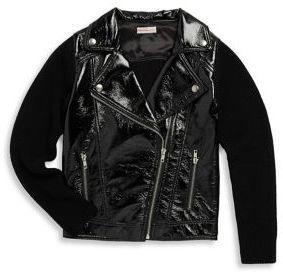 Design History Girl's Pleather Jacket