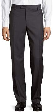 Saks Fifth Avenue BLACK Men's Wool Sharkskin Flat-Front Pants