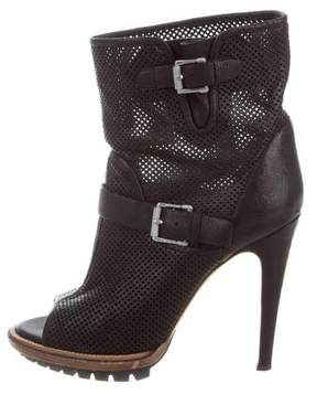 Belstaff Perforated Peep-Toe Ankle Boots