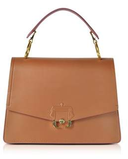 Paula Cademartori Women's Brown Leather Shoulder Bag.