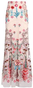 Temperley London Embroidered Tulle Maxi Skirt