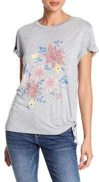 Democracy Floral Knotted Hem Tee