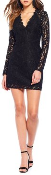 WAYF Say It Loud Lace Mini Wrap Dress