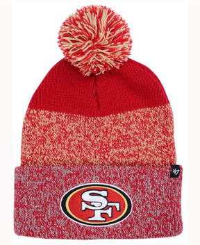 '47 San Francisco 49ers Static Cuff Pom Knit Hat