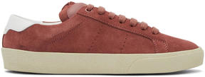 Saint Laurent Pink Suede Court Classic SL-06 Sneakers