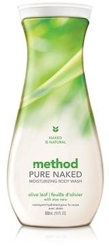 method Pure Naked Moisturizing Body Wash Olive Leaf with Aloe Vera
