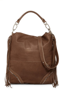 Liebeskind Tokio Fringe Leather Hobo Shoulder Bag
