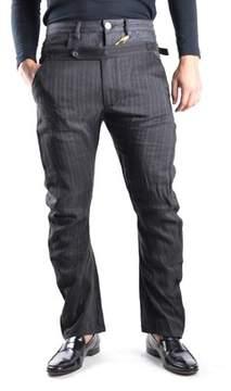 Galliano Men's Grey Linen Pants.