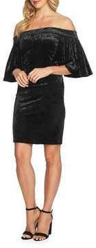 Cynthia Steffe Velvet Off-the-Shoulder Bodycon Dress