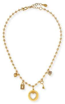 Sequin Love Five-Charm Necklace