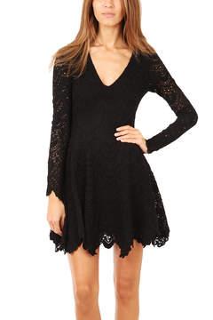 Nightcap Clothing Deep V Flirty Spanish Lace Dress