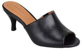 Corso Como Coral Leather Peep-Toe Sandals