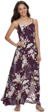Love, Fire Love Fire Juniors' Gauze Floral Maxi Dress