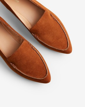 Express Faux Suede Pointed Toe Loafers