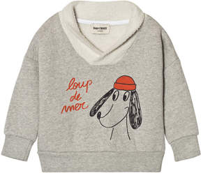 Bobo Choses Grey Loup de Mer Fisherman Sweatshirt