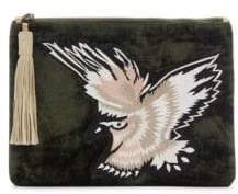 Sam Edelman Carol Embroidered Velvet Clutch