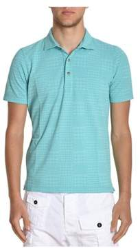 H953 Men's Light Blue Cotton Polo Shirt.