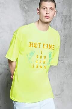 21men 21 MEN Hot Line Graphic Tee