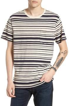J.Crew Variegated Stripe Slub Cotton T-Shirt