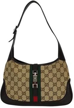 Gucci Brown Monogram Shoulder Bag - BROWN - STYLE