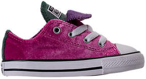 Converse Girls' Toddler Chuck Taylor All Star Velvet Double Tongue Casual Shoes