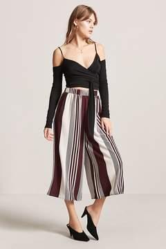 Forever 21 Stripe Crepe Culottes