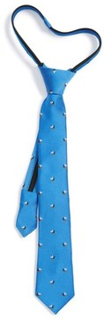 Nordstrom Boy's Ship Print Silk Zipper Tie