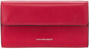 Alexander McQueen Leather Chain Flap Wallet
