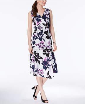 Alfani Faux-Wrap Midi Dress, Created for Macy's