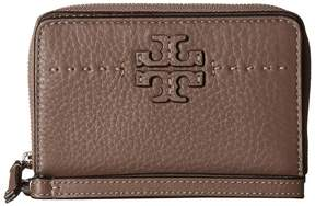 Tory Burch McGraw Bifold Wallet Bill-fold Wallet - SILVER MAPLE - STYLE