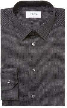 Eton Men's Dotted Slim Fit Dress Shirt