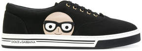 Dolce & Gabbana Designer patch sneakers