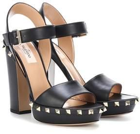 Valentino Rockstud leather plateau sandals