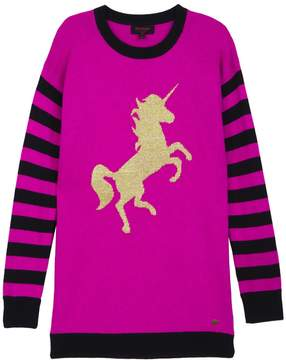Juicy Couture Unicorn Stripe Mix Sweater Dress for Girls