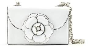Oscar de la Renta White Leather Tro Bag