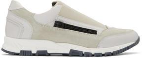 Lanvin Off-White Zip Sneakers