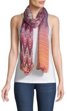 Missoni Multicolored Striped Silk Scarf