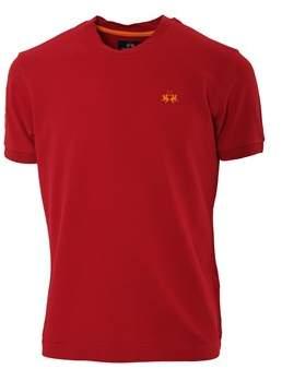 La Martina Men's Red Cotton T-shirt.