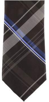 Michael Kors Plaid Necktie Brown One Size