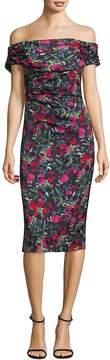 David Meister Women's Off-the-Shoulder Floral Dress